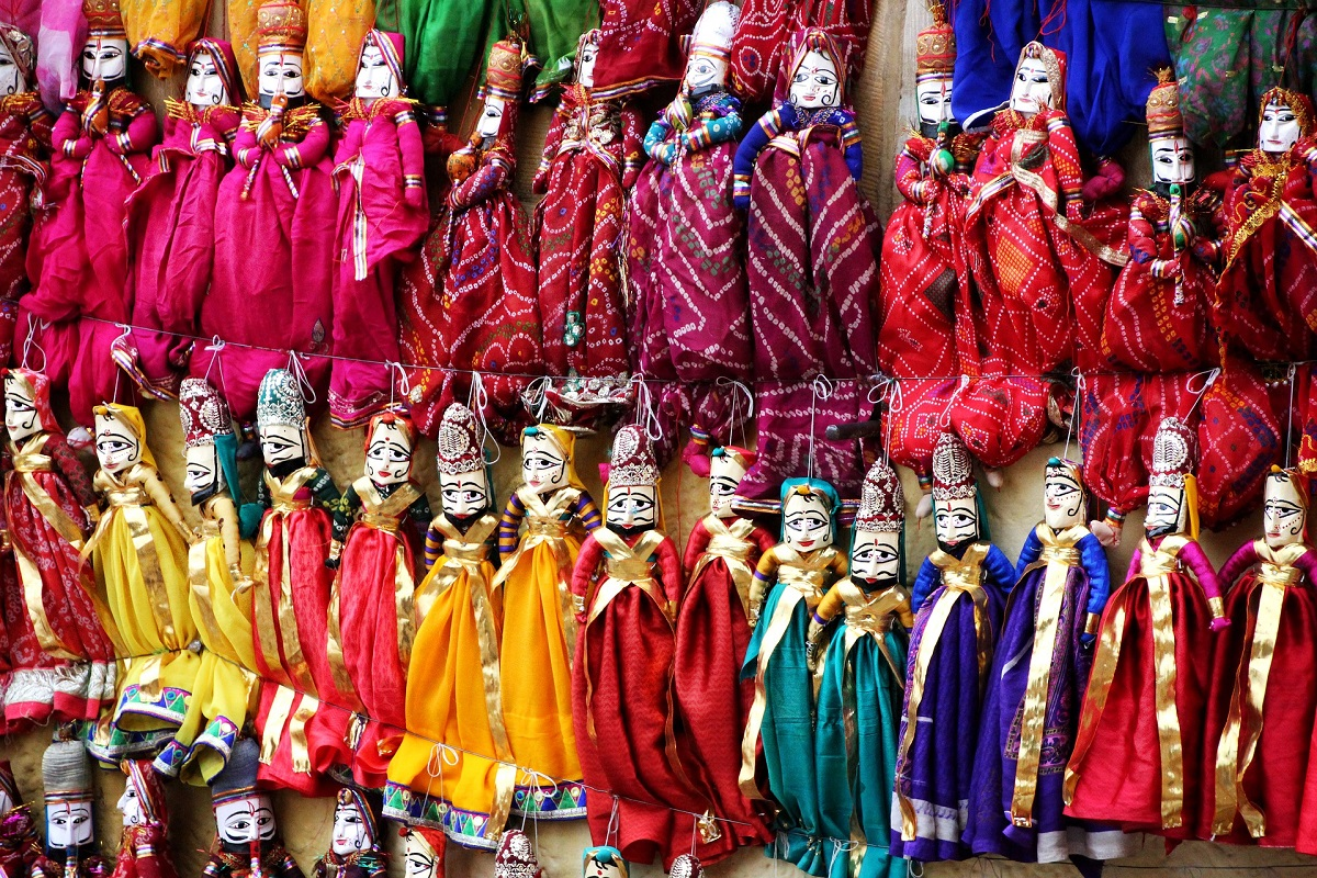 Famous Rajasthani Puppets In Bapu Bazar