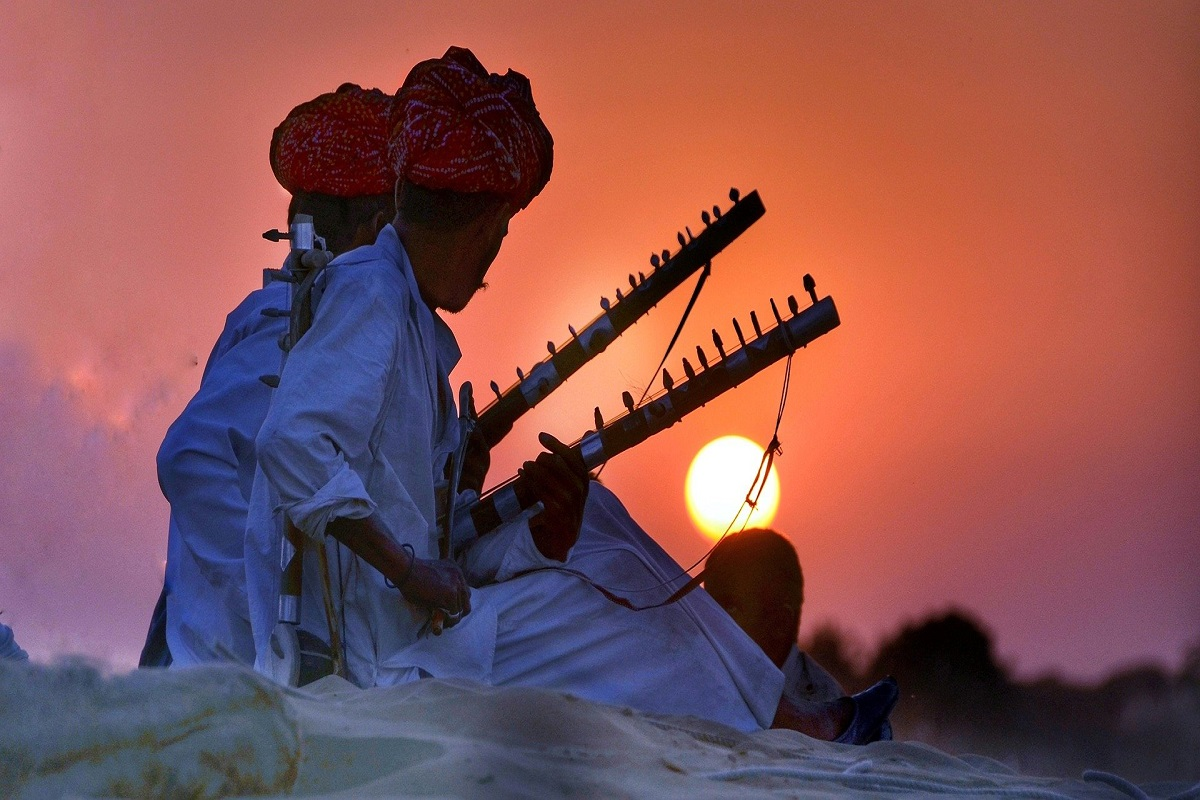 Musicians With Lute Singing Rajasthani Folk Music